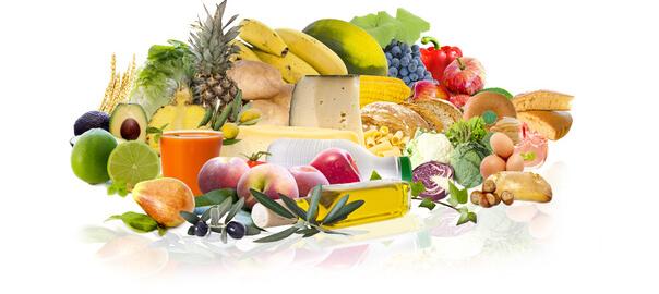 Potraviny na přibrání na obrázku