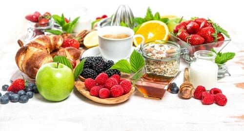 Barevné potraviny pro lepší chuť k jídlu